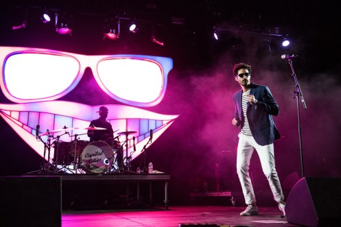 Capital Cities performs at the Coachella Music Festival in Indio, California on April 14, 2017. (Photo: Charles Reagan)