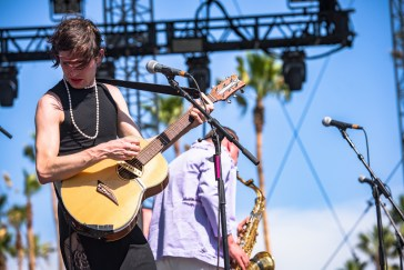 Ezra Furman performs at the Coachella Music Festival in Indio, California on April 16, 2017. (Photo: Charles Reagan)