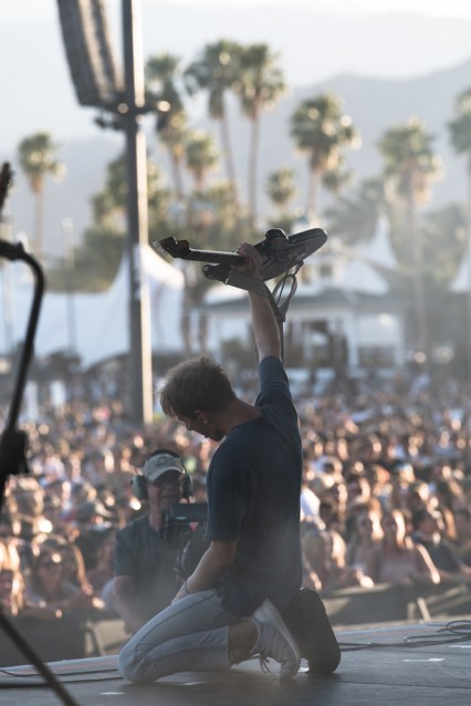 Glass Animals performs at the Coachella Music Festival in Indio, California on April 14, 2017. (Photo: Roger Ho)