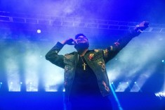 NAV and The Weeknd perform at the Coachella Music Festival in Indio, California on April 15, 2017. (Photo: Greg Noire)