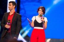 Joe Jonas and Alessia Cara host the 2017 iHeartRadio Much Music Video Awards in Toronto on June 18, 2017. (Photo: Orest Dorosh/Aesthetic Magazine)