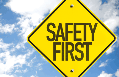 sign safety first