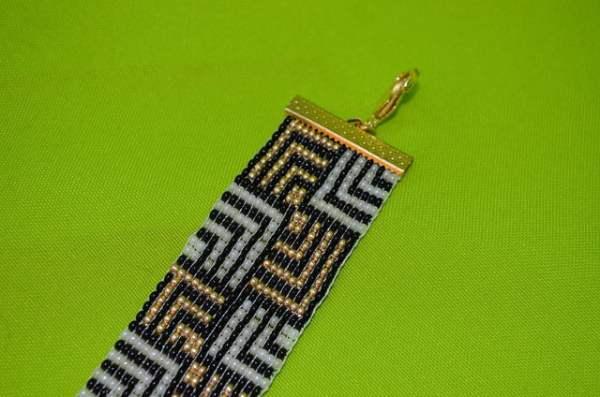 pulseira de miçanga no tear 028 09