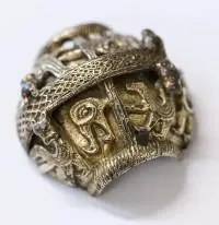 Half of a Bishops Crozier-turned-Viking-plunder, twin of the one found in the Delaware River during a dredging project.
