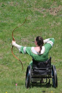 Archers compete for the Baronial Archery Championship.