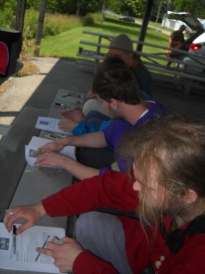 Students in Lady Edana's Beginning Pewter class (Photo credit: Mistress Hilderun)