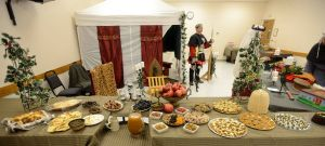 The spread that accompanied the Crusader Ale at Janos' vigil, photo by Sir Ian Kennoven.