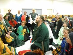 Tiarna Padraig receiving his Millrind.