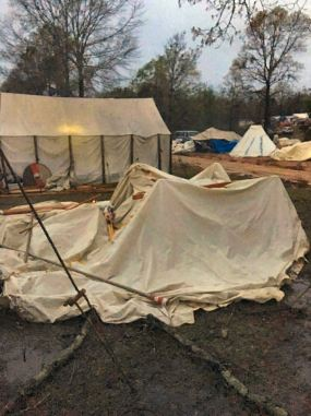 Tent down Cellach