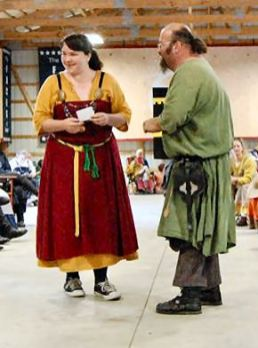 Lord Drogo is second in the Largesse competition. Photo by THLady Aine ny Allane.