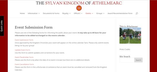 Kingdom event sub form