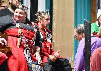 THLord Michael Langley is made a Court Baron. Photo by Baron Steffan.