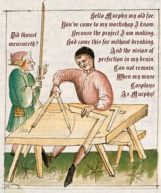 Carpenter at work, 15th century