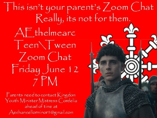 Teen-Tween Zoom Chat June 2020