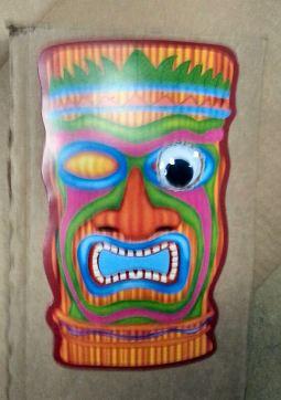 Tiki mask one googly eye