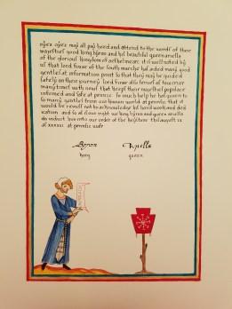 Scroll by Mistress Gillian Llewellyn
