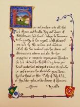 Scroll by Lady Felice de Thornton
