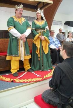 Lord Borivoj receives his AoA.