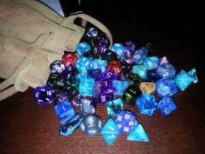 Shiny dice
