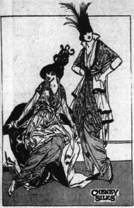 Spring 1914 fashions, as shown in an ad in the Atlanta Constitution, 11 Jan 1914
