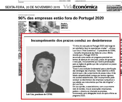 Presidente da AEVC reage aos baixos níveis de execução do Portugal 2020