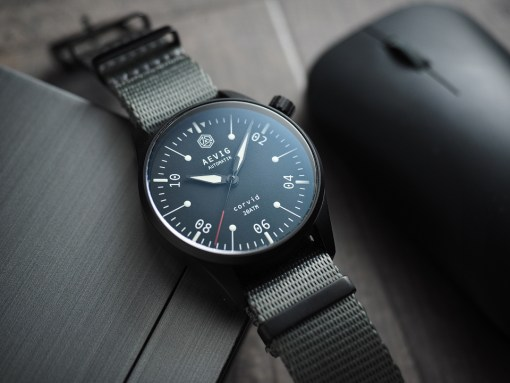 Aevig Corvid fieldwatch custom-made watch