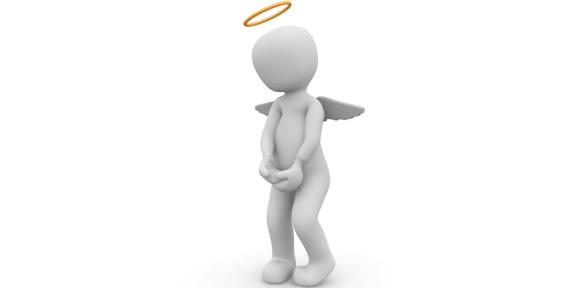 Symbolbild: Porzellan-Engel mit Heiligenschein