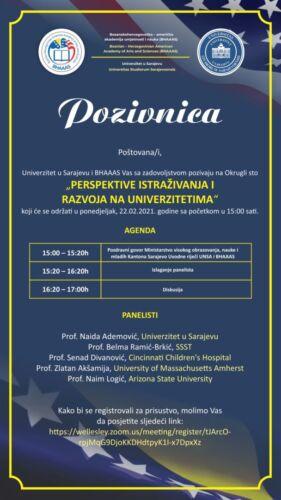 Pozivnica_Perspektive istraživanja i razvoja na univerzitetima