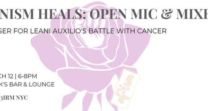 Feminism Heals: Open Mic and Mixer on March 12 with AF3IRM NYC