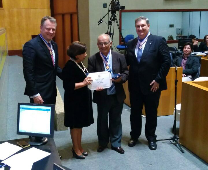 Presidente da AFABB-ES é homenageado na Assembleia Legislativa do ES