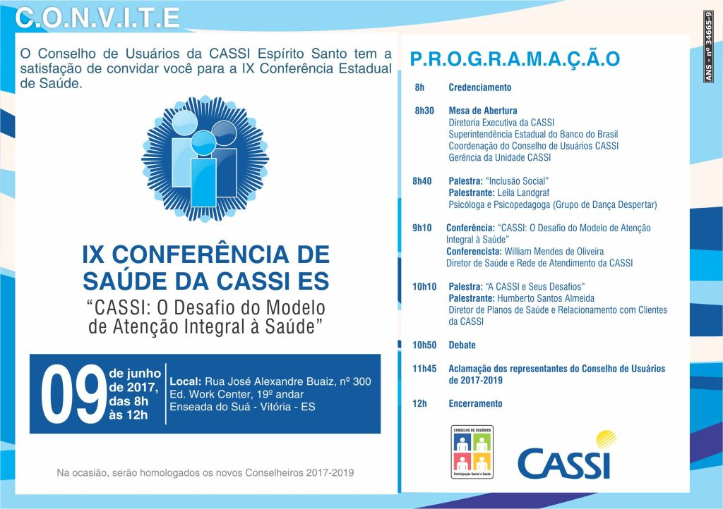 IX Conferência de Saúde da CASSI ES