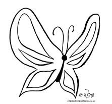 desenho colorir borboleta