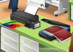 Epson 3D desenho cenario escola educação alunos palestra projetor impressora projeção design background drawing illustration scenery education school projector printer JLima 4