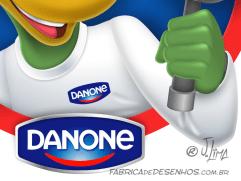 Logo Caça Perdas Danone logo dino danoninho jlima desenho mascote personagem mascot character design chapeu indiana jones lupa 4