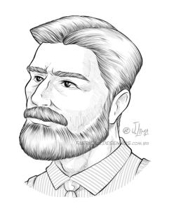 barbearia barba beard balsamo barbear homem man jack desenho ilustracao arte design character illustration jlima draw vetor vector perfil men jovem rosto face 1