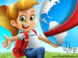 school escola alunos aluno menina crianças mochila uniforme logo impacto jlima sketch esboço girl kids mascote personagem character mascot design desenho ilustraçao