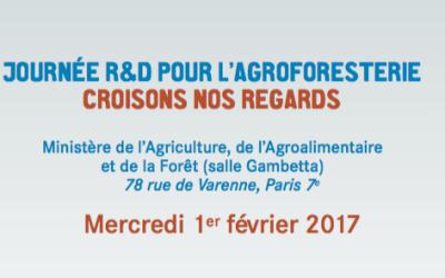 Journée R&D pour l'agroforesterie à Paris le 1er février