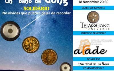 Un baño de Gong Solidario con Teja Gong a beneficio de AFADE
