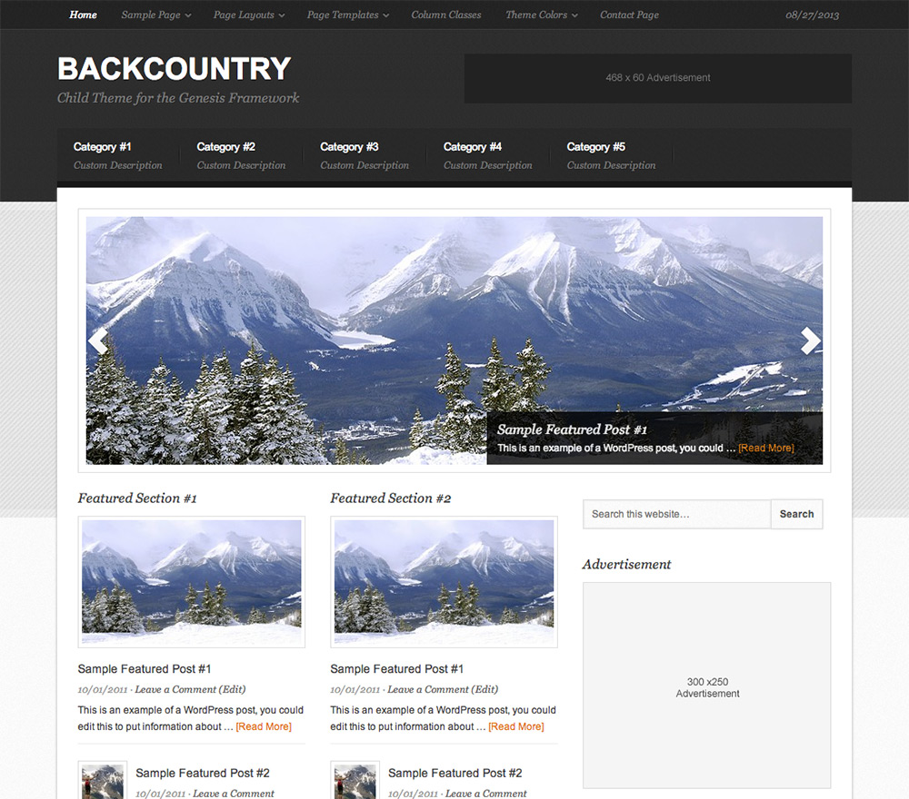 Backcountry Theme