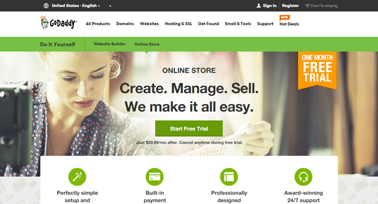 GoDaddy Quick Shopping Cart Software eCommerce Terbaik