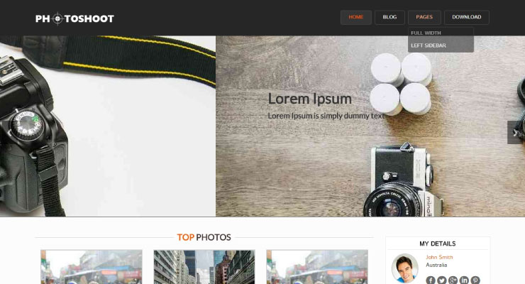 Photoshoot WordPress Theme