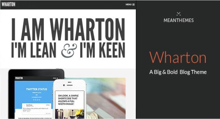 Wharton WordPress Theme