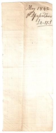 May 1842 [...]. Taxes. £2/17/5.