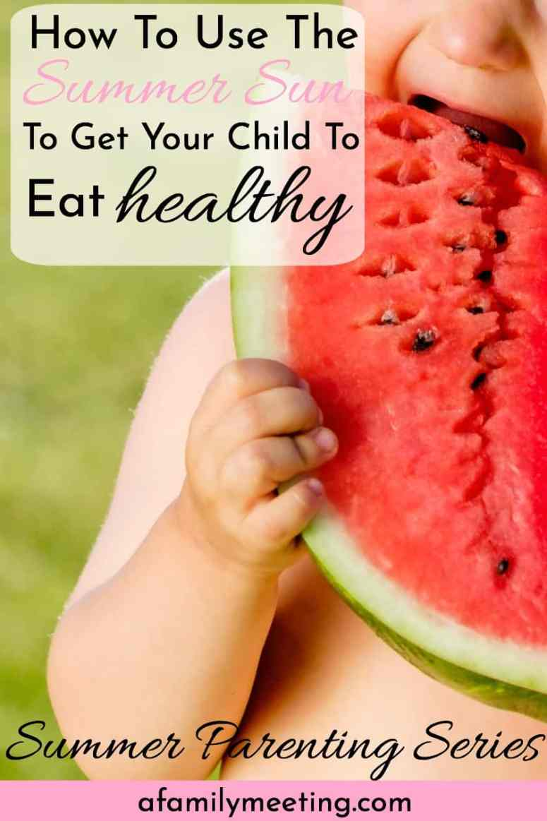 toddler child eating healthy watermelon