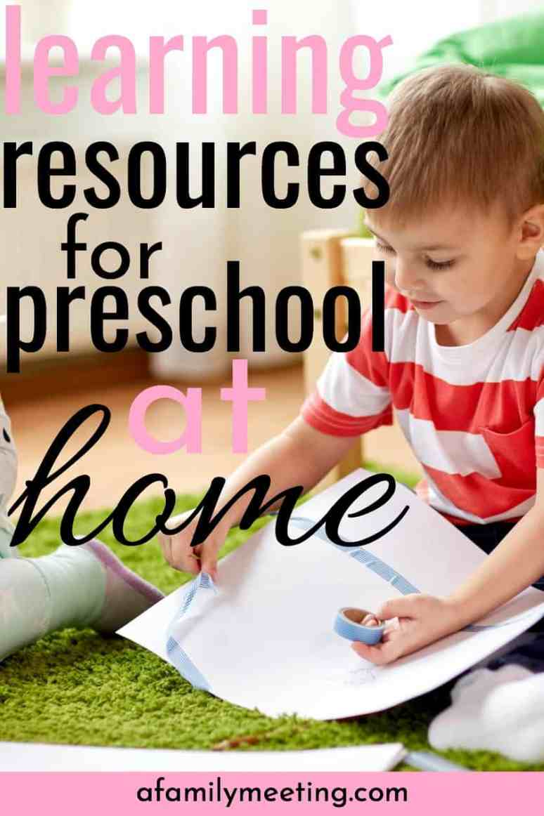 Discover some of the best learning resources and ideas for teaching preschool at home. After a decade of homeschooling, these are my favorite preschool education curriculum and activities for teaching 2-5-year-olds. #preschoolathome #preschoolcurriculum #learningresources3yrold #learningresourcesprek #learningresources