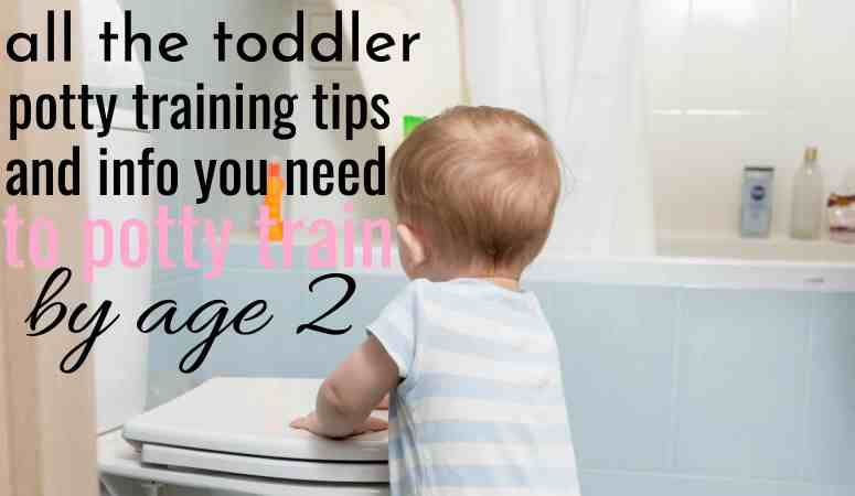 cute little boy standing by toilet getting ready to toddler potty train