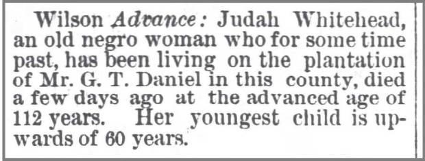 Daily_Charlotte_Observer_12_11_1878_Judah_Whitehead_112_y_o__died