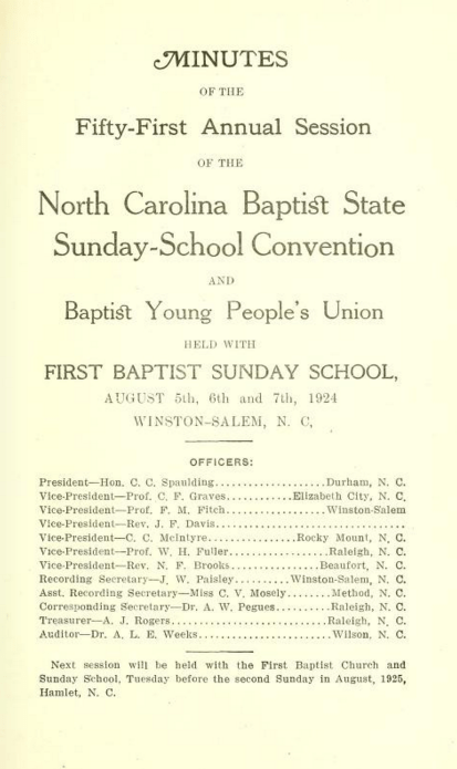 Sunday school delegates