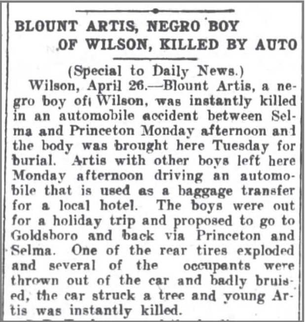 Greensboro_Daily_News_27_Apr_1916_Blount_Artis_killed