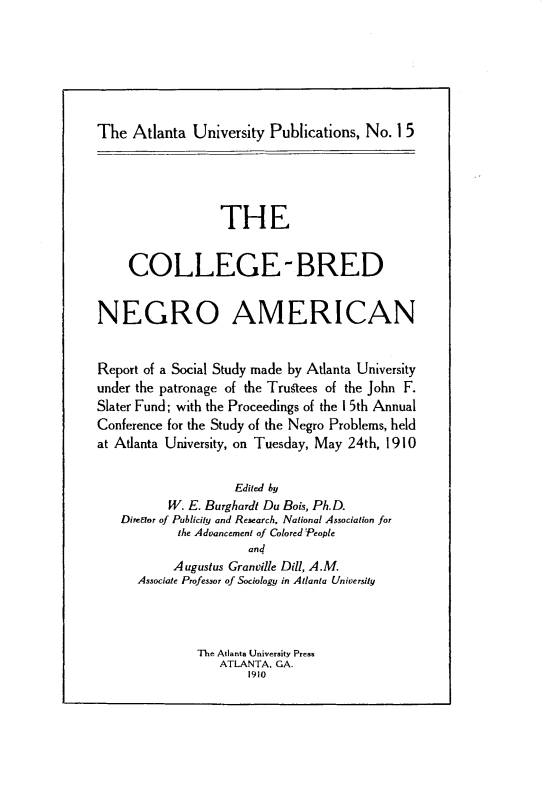 College Bred Negro